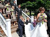 <span>The Beautiful Bride and Groom Leaving The Bandstand</span>